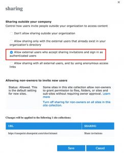"""Cocher la case """"autoriser les utilisateurs externes"""""""