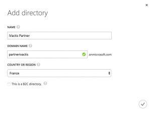 Définition du nom du nouveau domaine Active Directory