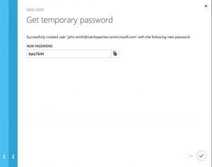 Sauvegarde de mot de passe d'un utilisateur externe Office 365