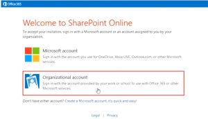 Authentification auprès d'un site SharePoint Online